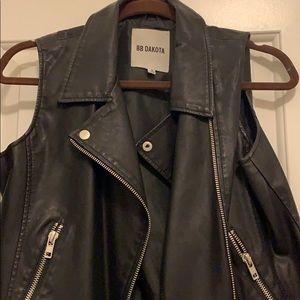 "Black ""leather"" vest"